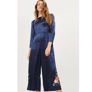 Topshop Premium Embroidered Jumpsuit